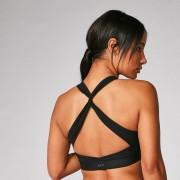 Myprotein Reggiseno sportivo Power incrociato sulla schiena - Nero - L