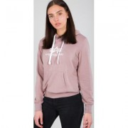 Alpha Industries New Basic Felpa con cappuccio da donna Rosa XL
