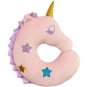 SYGA Unicorn Travel Pillow for Kids, Soft Plush Animal Neck Pillow Neck Pillow(Pink)