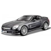 Macheta metalica Bburago 1:24 Mercedes-Benz SL 65 AMG Negru metalic