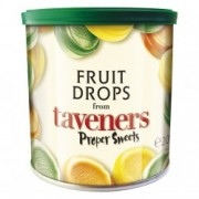 Taveners Fruit Drops 200g x 2 Tins Travel Gift Tin Retro Sweets