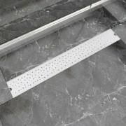 vidaXL rozsdamentes acél tusoló lefolyó buborékos 830 x 140 mm