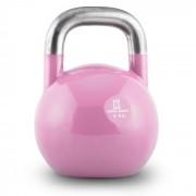 Compket 8 Kettlebell Bola de Peso 8 kg Aço Halterofilia Musculação Exercício Fitness Rosa