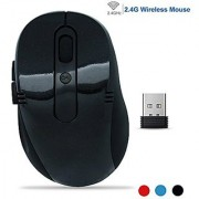 2.4 GHz Wireless Mouse Costech Mobile Optical Mice with USB Wireless Receiver 6 Buttons for Notebook PC Laptop Computer Macbook (Black)
