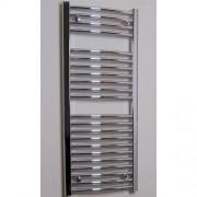 Designradiator Gebogen Sanicare 111.8x45cm 440 Chroom Zijaansluiting