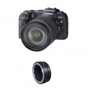 Canon EOS RP Aparat Foto Mirrorless 26.2MP Kit cu Obiectiv RF 24-105mm F4 L IS USM si Inel Adaptor EF-EOS R