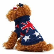 Union Jack Pet Clothes Dog Cat Puppy Winter Warm Knit Sweaters Coats Costume Apparel Dog Sweater