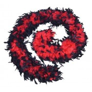 Red/Black: Bristol Novelty BA1674 Feather Boa, Red/Black, One Size