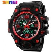 Skmei Skm-1155 Red Black Analog With Digital Best Looking Sport Watch For Men Boys