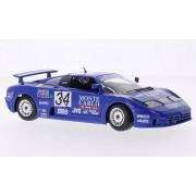 Bburago Bugatti EB110 Super Sport 34 (Race 1994), Blue - 28010 1/24 Scale Diecast Model Toy Car