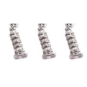 Three Leaning Tower of Pisa Pendants with Attached Clasps
