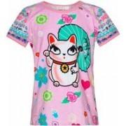 Mim-Pi! Meisjes Shirt Korte Mouw - Maat 104 - All Over Print - Katoen/elasthan