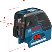 Точков лазерен нивелир BOSCH GCL 25 Professional, до 30м, 4 точки