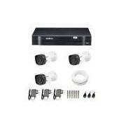Kit 3 Câmeras de Segurança HD 720p Intelbras VHD 1010B G4 + DVR Intelbras Multi HD + Acessórios