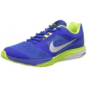 Nike Men's Nike Tri Fusion Run Msl Racer Blue, Metallic Silver and Green Running Shoes - 10 UK/India (45 EU)(11 US)