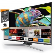"Televisor 55"" Samsung Smart TV MU6100- Negro"
