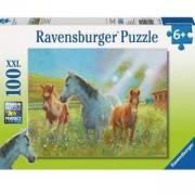 Пъзел Ravensburger 100 елемента, Коне на поляна, 700779