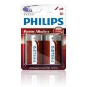Philips Batterij LR20 Powerlife 1.5V Per 2 Stuks