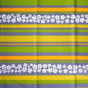 AGAVE, agavészürke csíkos, virágos, spanyol lakástextil - 280 cm széles