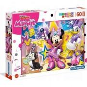 Puzzle Clementoni SuperColor Maxi: Disney Junior Minnie, 60 piese
