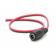 2 Core DC Power Cable to Female DC 12V Connector for CCTV Cameras