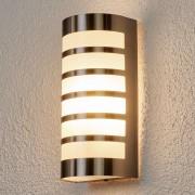 Lampenwelt.com Graceful stainless steel outdoor wall light Alvin