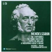 F. Mendelssohn-Bartholdy - Symphonies/ Piano Concerto (0825646276929) (5 CD)