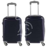 JUSTGLAM Coppia di 2 trolley da cabina mis.50 e 55 cm blu