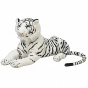 vidaXL Tiger Toy Plush White XXL