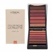 L´Oréal Paris Color Riche La Palette 6 g paletka rúžov pre ženy Nude