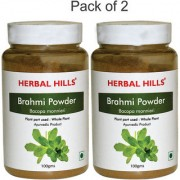 Herbal Hills Natural Brahmi leaves (Bacopa) Powder 100gms - Pack of 2 - For Brain and memory