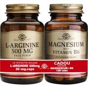 Solgar Pachet L-arginine 500mg 50cps + Magnesium cu B6 100 tablete GRATIS