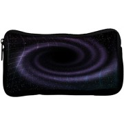 Snoogg black hole in space background Poly Canvas Student Pen Pencil Case Coin Purse Utility Pouch Cosmetic Makeup Bag