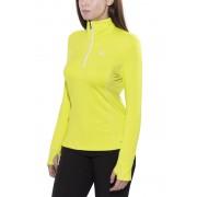 Salomon Trail Runner Warm Mid Hardloopshirt lange mouwen Dames geel L 2016 Hardloopshirts