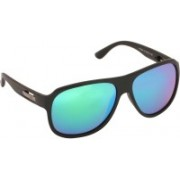 French Connection Rectangular Sunglasses(Green)