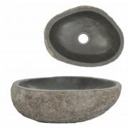 vidaXL Chiuvetă ovală din piatră de râu, 30-35 cm