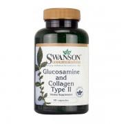 Glucozamina si Colagen de tip II, 90 capsule