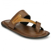 Knoos Brown Colour Comfortable Slippers-JK-203-BR-P