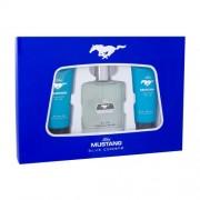 Ford Mustang Mustang Blue set cadou EDT 100 ml + Gel de dus 100 ml + Balsam dupa barbierit 100 ml pentru bărbați