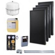 Kit solar Idella Family Standard IFST 2.02 mp cu patru panouri solare si set de montare pentru acoperis