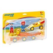 Playmobil 6761 1.2.3 Racing Car with Transporter