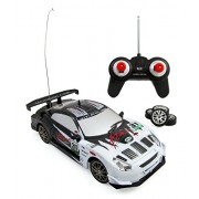 TeamRC® Super Fast Drift King R/C Sports Car Remote Control Drifting Race Car 1:24 + Headlights, Backlights, Side Lights + 2 Sets of Tires (White)