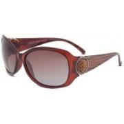 KEEDA Oval Sunglasses(Brown)