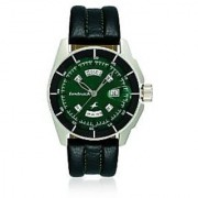 Fastrack Quartz Green Tonneau Men Watch NE3089SL03