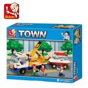 Sluban City Scene Building Block Toys for Kids 222 Pieces Multi Color Lego Compatible Educational Gift Toy Set M38-B2800