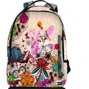 Sleevy laptop rugzak 15,6 Deluxe kleurrijk bloemen design