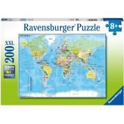 Puzzle Ravensburger Harta Lumii, 200 Piese