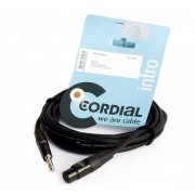 CABLE CORDIAL CCM7.5FP JACK 6.3mm MACHO A XLR HEMBRA 7.5m