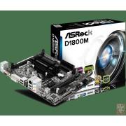 ASRock D1800M, Intel J1800 2.41GHz, 2xDDR3/DDR3L, SATA2, PCI-Ex16, VGA/DVI/HDMI/USB3.0, mATX