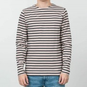 Norse Projects Godtfred Classic Compact Longsleeve Tee Multi Stripe Askja Red